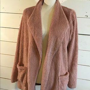 Ambrielle Sleepwear Pink Super Soft Sweater Robe